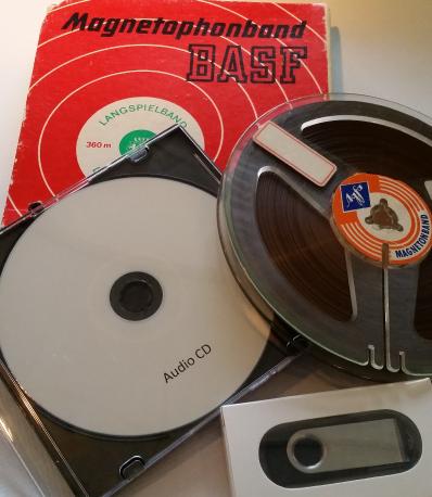 Bandrecorderspoelen, audiospoelen