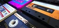 Audiocassettes, elpee, single, cassettebandje